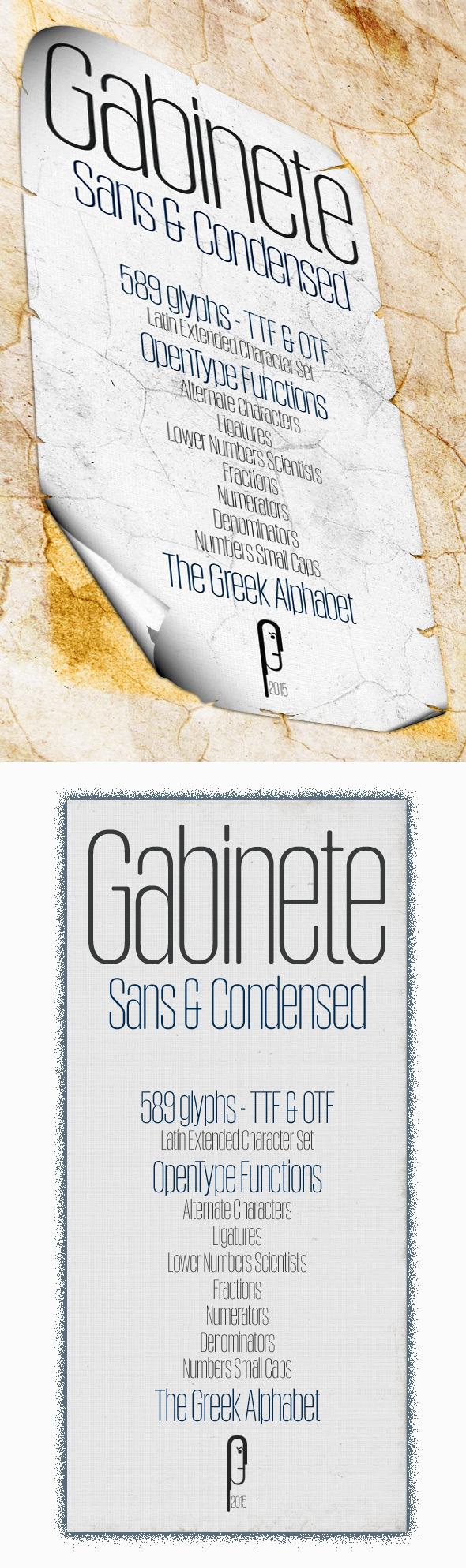 GraphicRiver Gabinete Sans Condensed 11438134