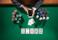 Poker player with smartphone - PhotoDune Item for Sale
