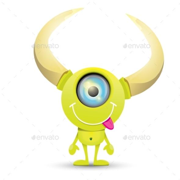 GraphicRiver Green Cartoon Monster 11438288