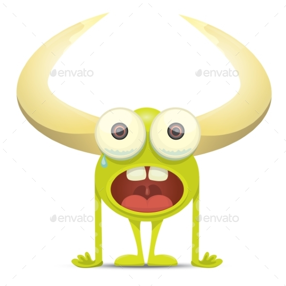 GraphicRiver Green Cartoon Monster 11438399
