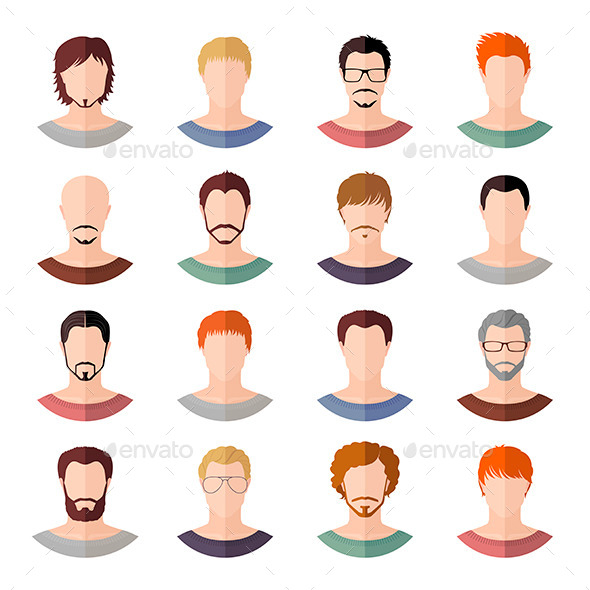 GraphicRiver Avatars of Men 11438403