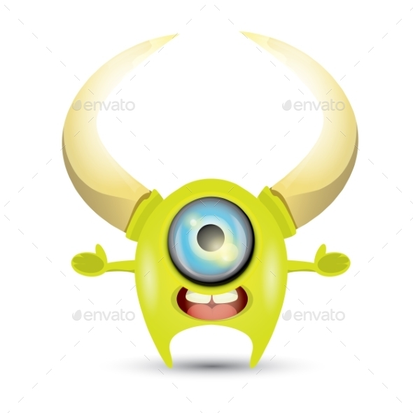GraphicRiver Green Cartoon Monster 11438418