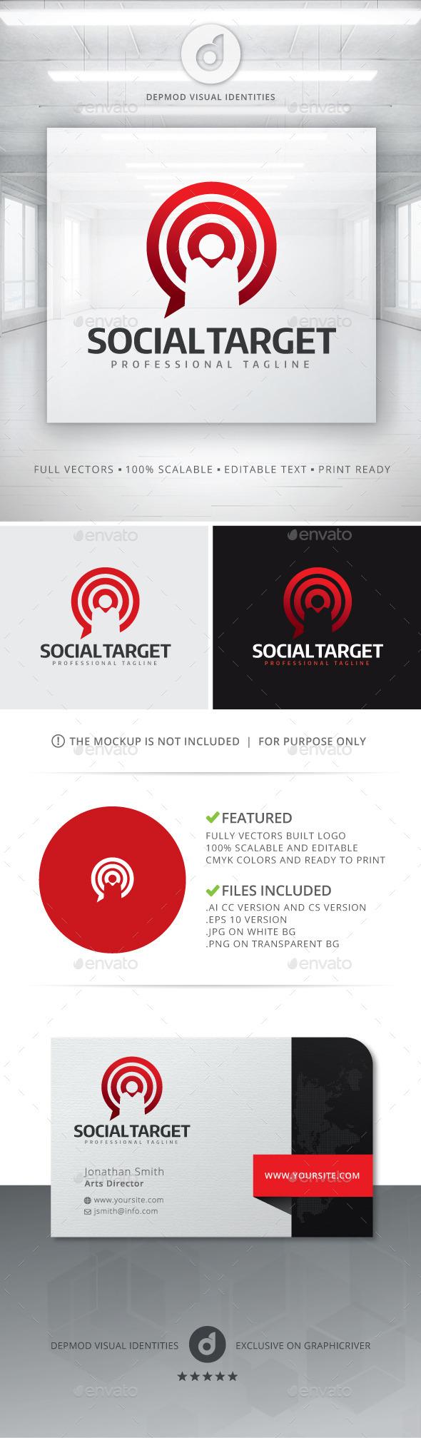 GraphicRiver Social Target Logo 11438425