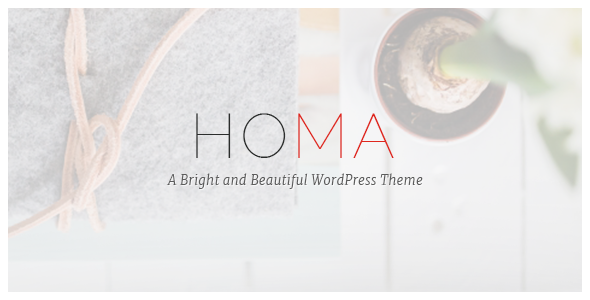 ThemeForest Homa A Bright and Beautiful WordPress Theme 11438572