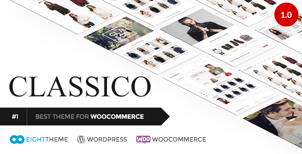 ThemeForest Classico Responsive WooCommerce Wordpress Theme 11024192