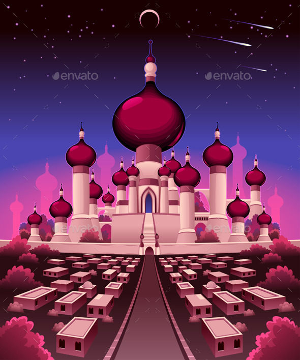GraphicRiver Arabian Castle in the Night 11438627