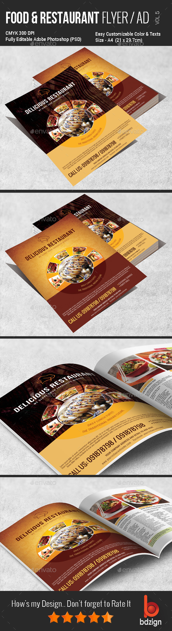 GraphicRiver Multi Purpose Food Flyer Vol5 11438640