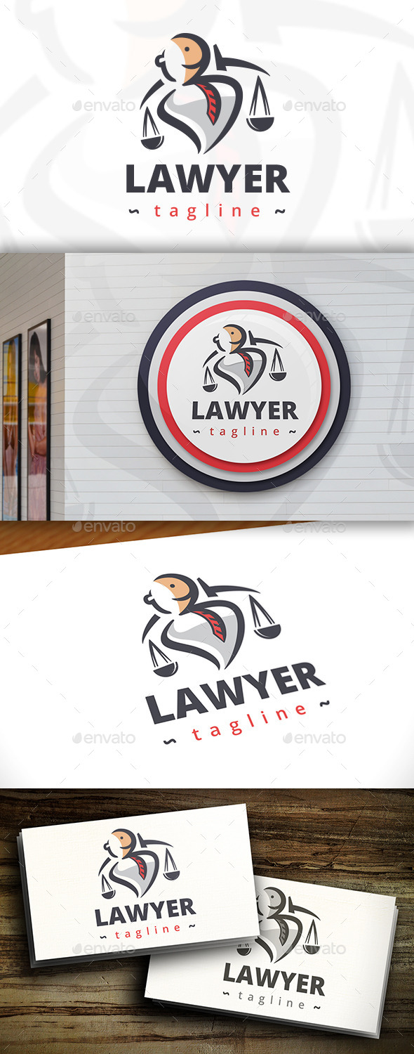GraphicRiver Modern Lawyer Logo 11438725