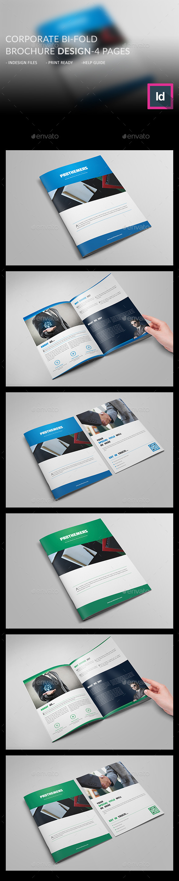 GraphicRiver Corporate Bi-Fold Brochure 4 Pages 11439105