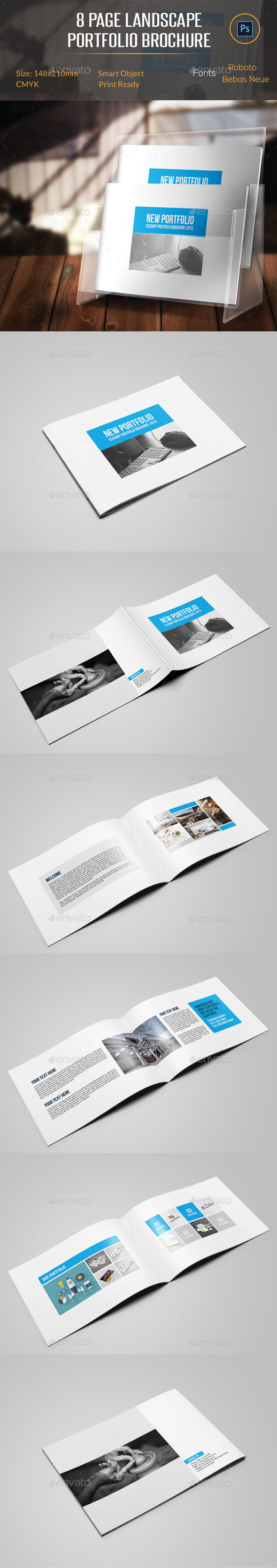 GraphicRiver 8 Pages Landscape Portfolio Brochure 11439120