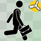 Stick Figure Move With Bag - VideoHive Item for Sale