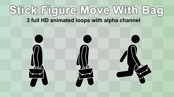 Stick Figure Move With Bag