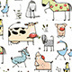 Cartoon Farm Animals Seamless Patterns - GraphicRiver Item for Sale