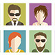 Set of People Flat Icons - GraphicRiver Item for Sale