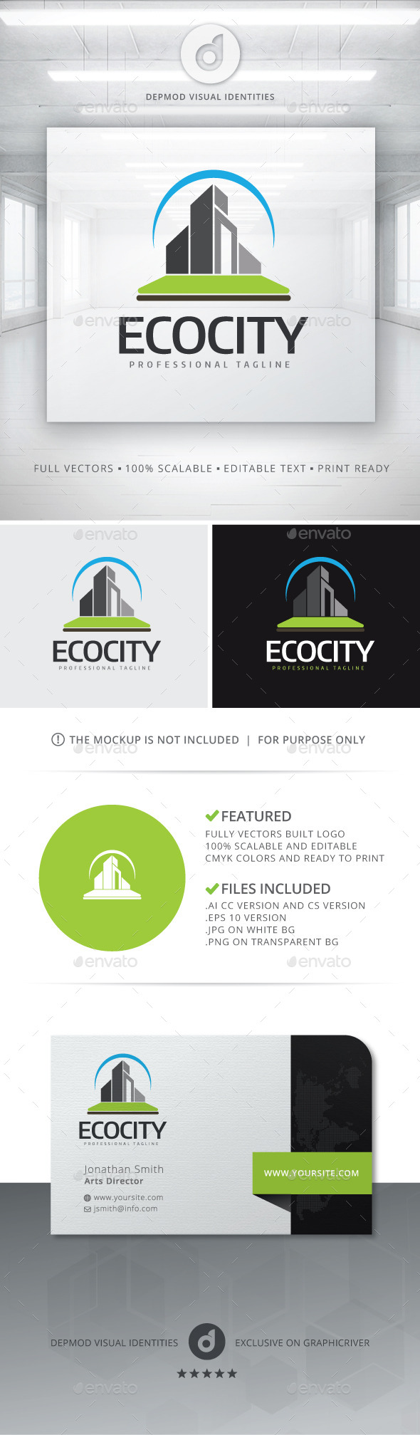 GraphicRiver Eco City Logo 11439592