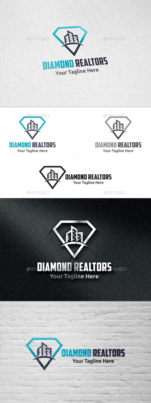 GraphicRiver Diamond Realtors Logo Template 11439593