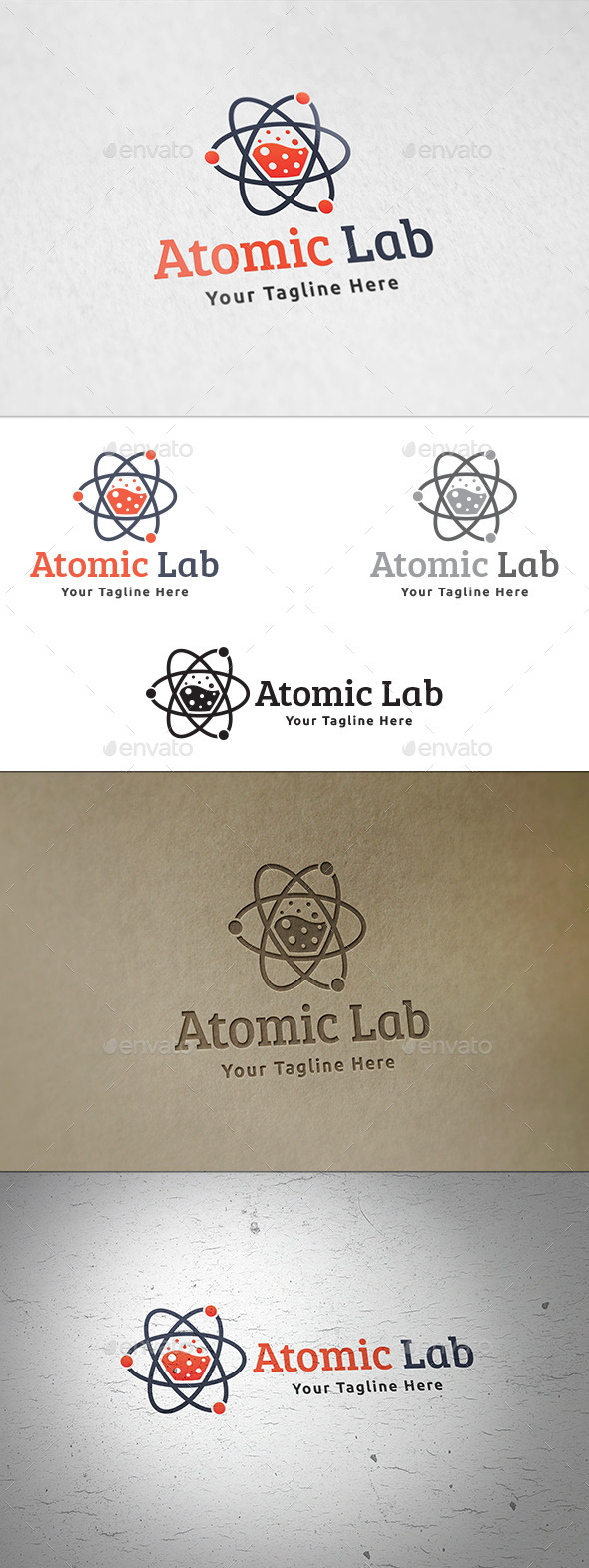 GraphicRiver Atomic Lab Logo Template 11440116