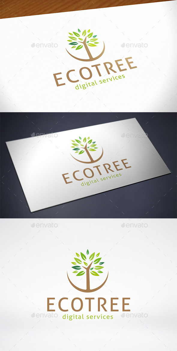 GraphicRiver Eco Oak Tree Logo Template 11440127