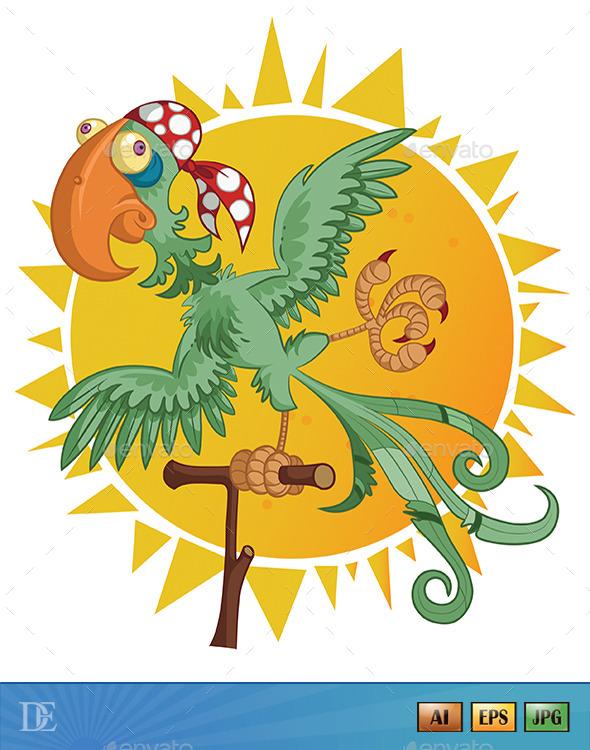 GraphicRiver Pirate Parrot 11440132