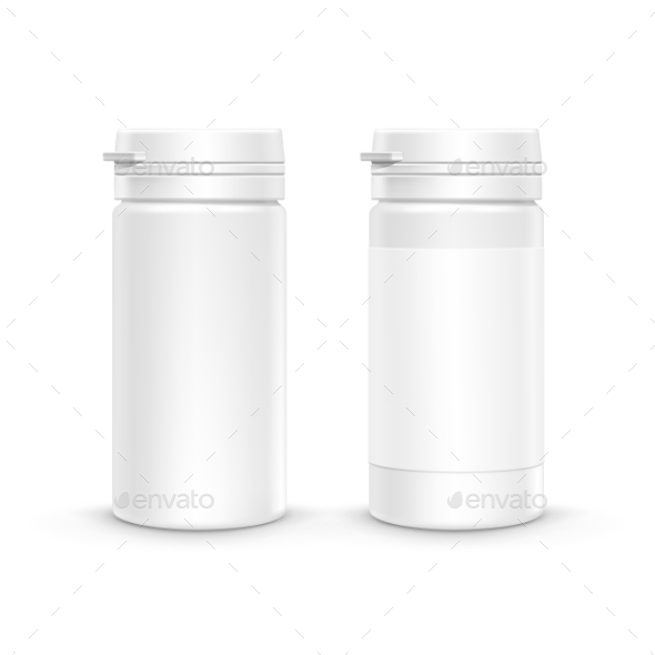 GraphicRiver Plastic Packaging Bottle with Cap for Pills 11440208