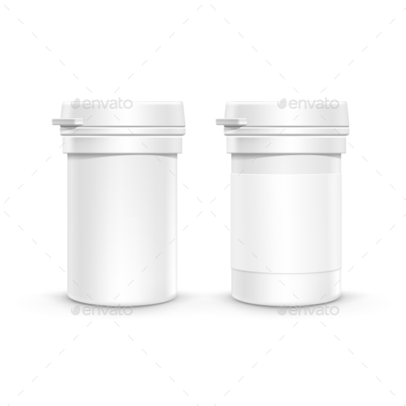 GraphicRiver Plastic Packaging Bottle with Cap for Pills 11440209