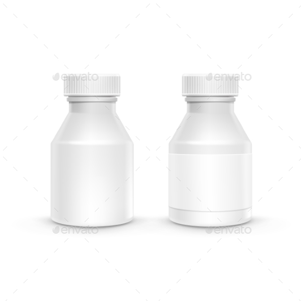 GraphicRiver Plastic Packaging Bottle with Cap for Pills 11440236