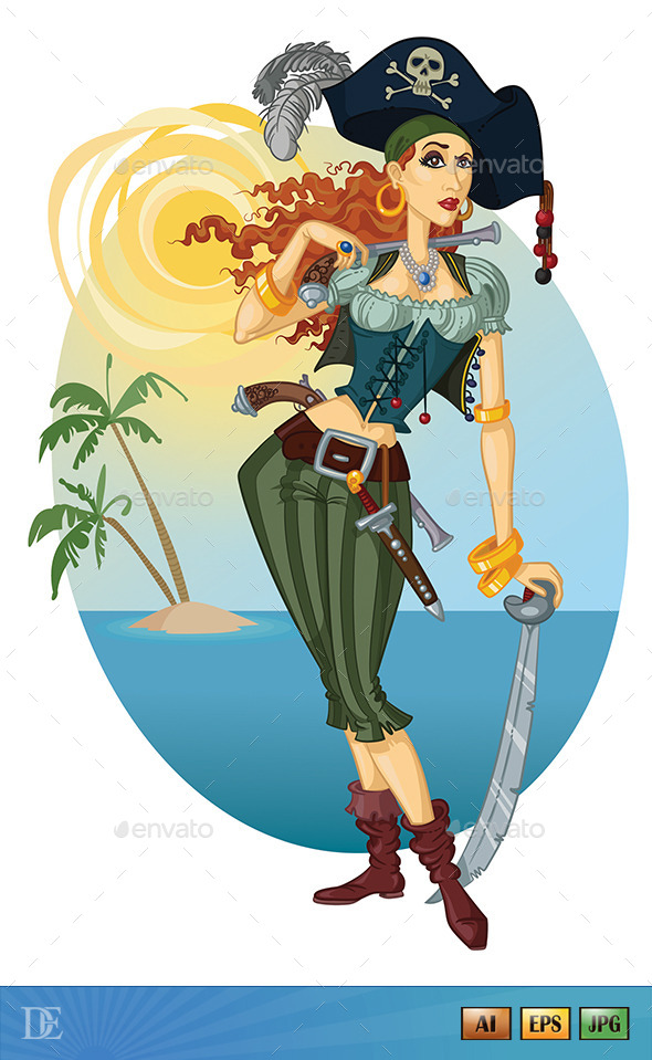GraphicRiver Pirate Woman 11440338