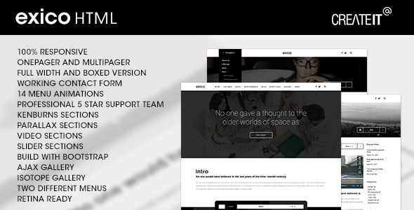 ThemeForest Exico Corporate HTML Template 11440349