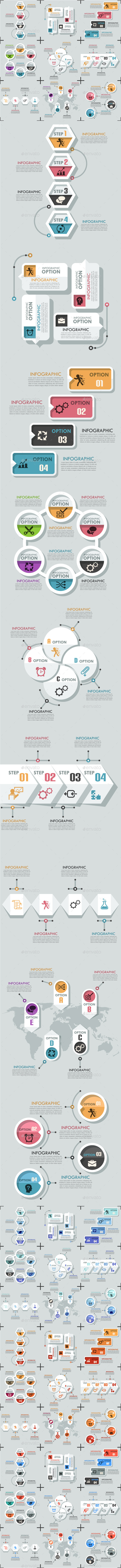 GraphicRiver Set Of 9 Flat Infographic Options Templates 11440419