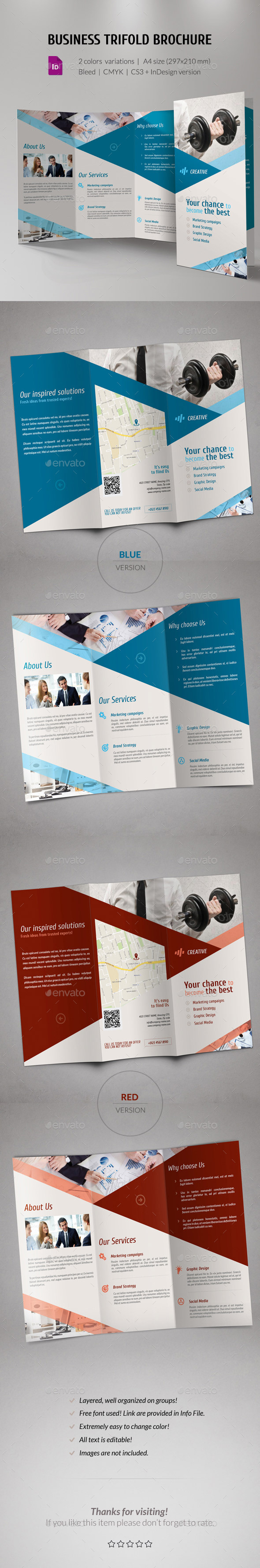 GraphicRiver Business Corporate Trifold Brochure 11440425