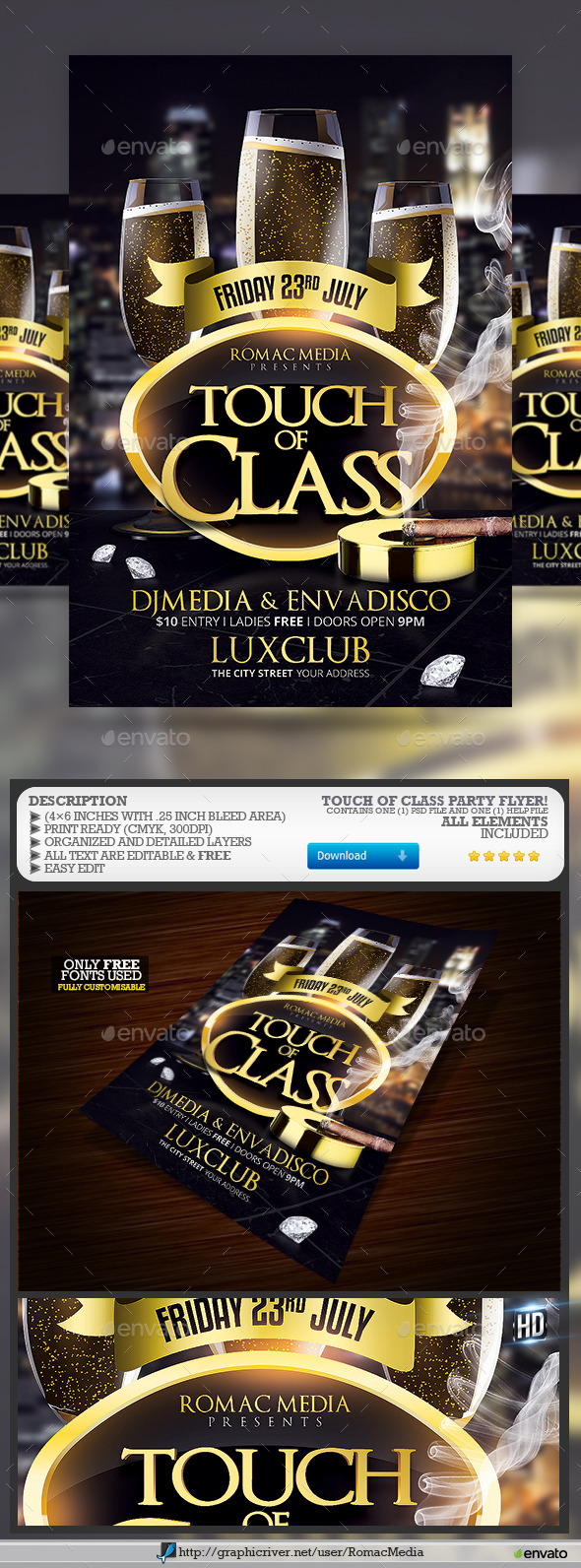 GraphicRiver Touch of Class Party 11440440