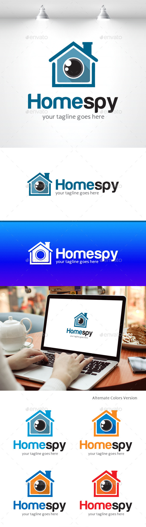 GraphicRiver Home Spy Logo 11406701
