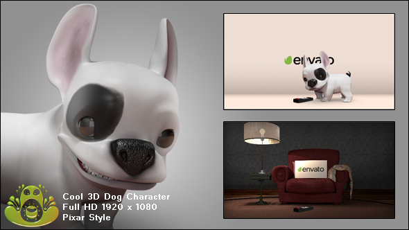 3D Dog Logo Reveal Pack
