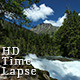 River Mountain Clouds Green Moss Bright Blue Sky - VideoHive Item for Sale
