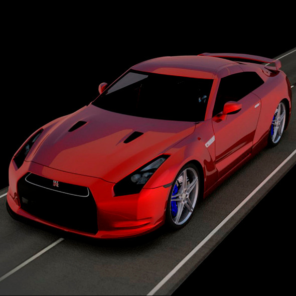 3DOcean Nissan GT-R 3D Car Model 11440506