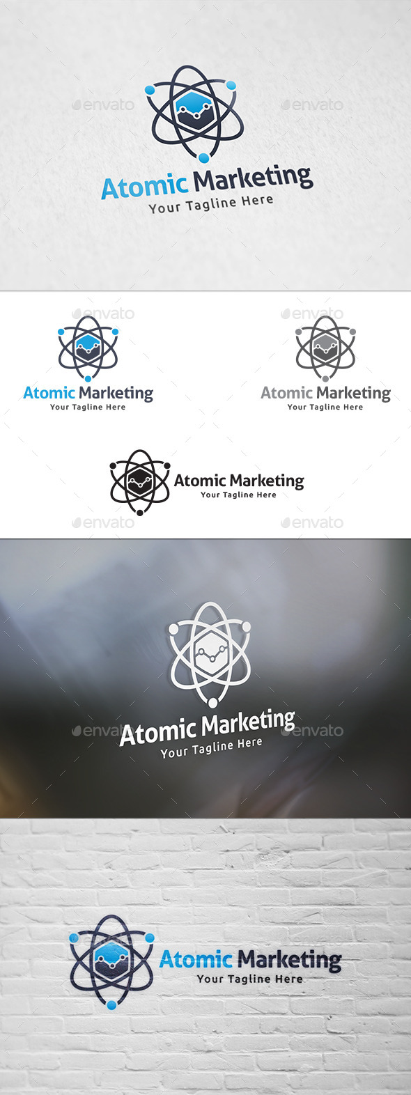 GraphicRiver Atomic Marketing Logo Template 11440646