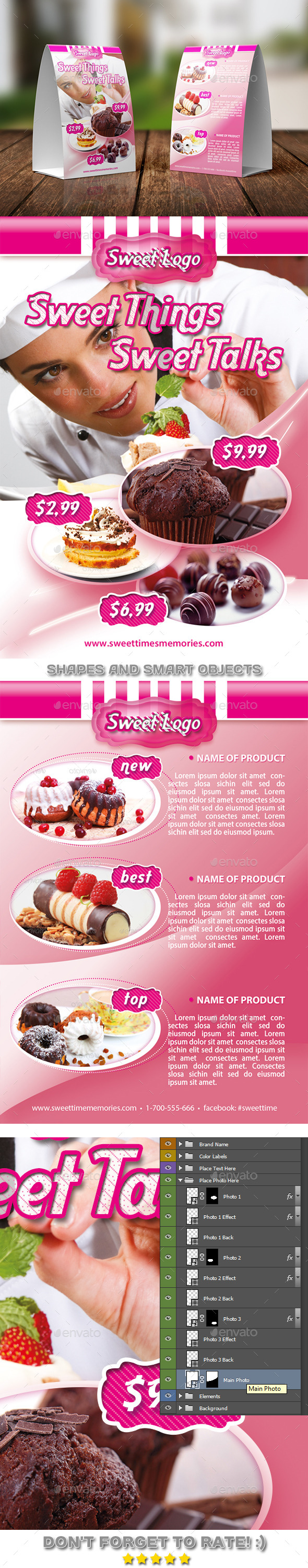 GraphicRiver Sweet Time Table Tent Template 04 11440730