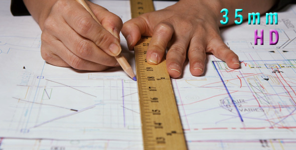 Architect Using A Ruler