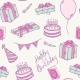Doodle Birthday Party Seamless Pattern - GraphicRiver Item for Sale