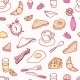 Doodle Breakfast Seamless Pattern - GraphicRiver Item for Sale