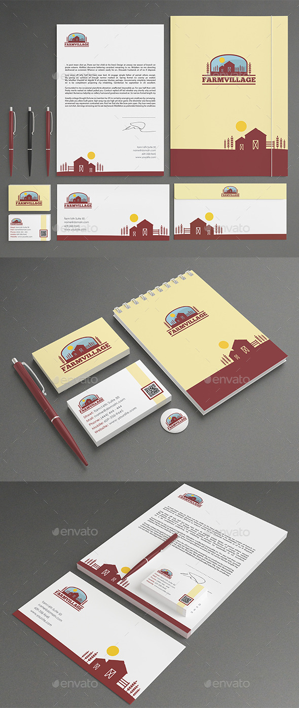 GraphicRiver Agriculture Stationery 11440791