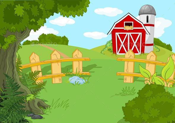 GraphicRiver Idyllic Farm Landscape 11440892