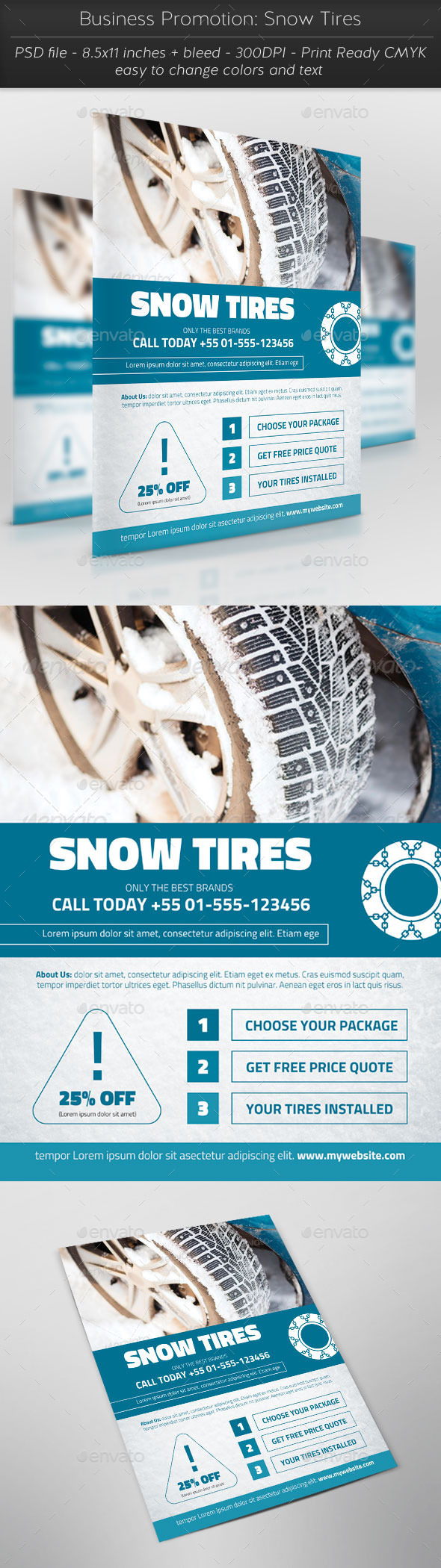 GraphicRiver Business Promotion Snow Tires 11441022