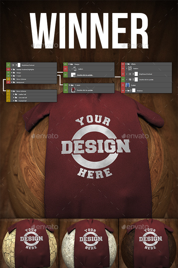 GraphicRiver T-Shirt Mock-Up Winner 11441069