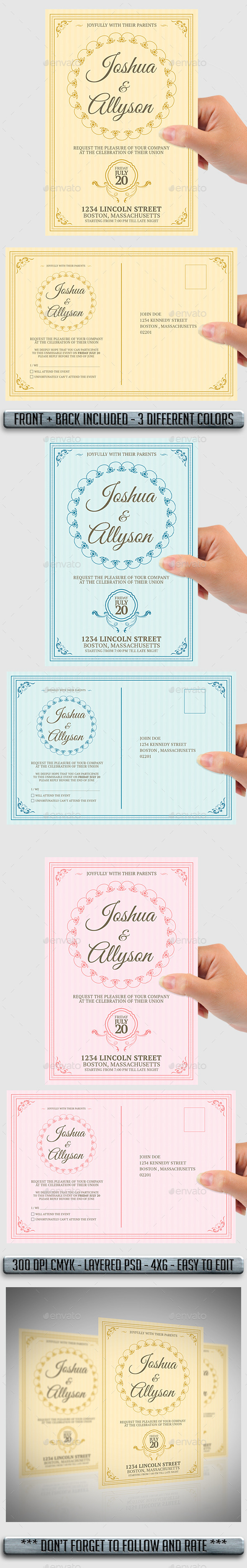 GraphicRiver Wedding Invitation 11441116