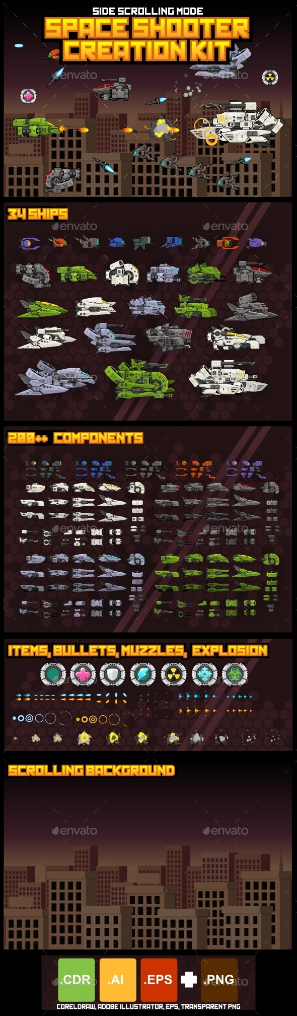 GraphicRiver Space Shooter Kit Side Scrolling 11441172