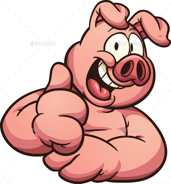 GraphicRiver Cartoon Pig 11441185