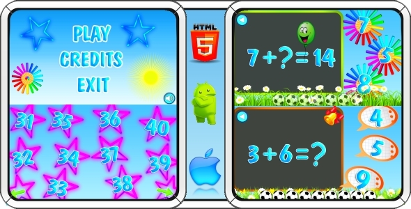 CodeCanyon Math game for Kids HTML5 Mobile Game Capx 11404476