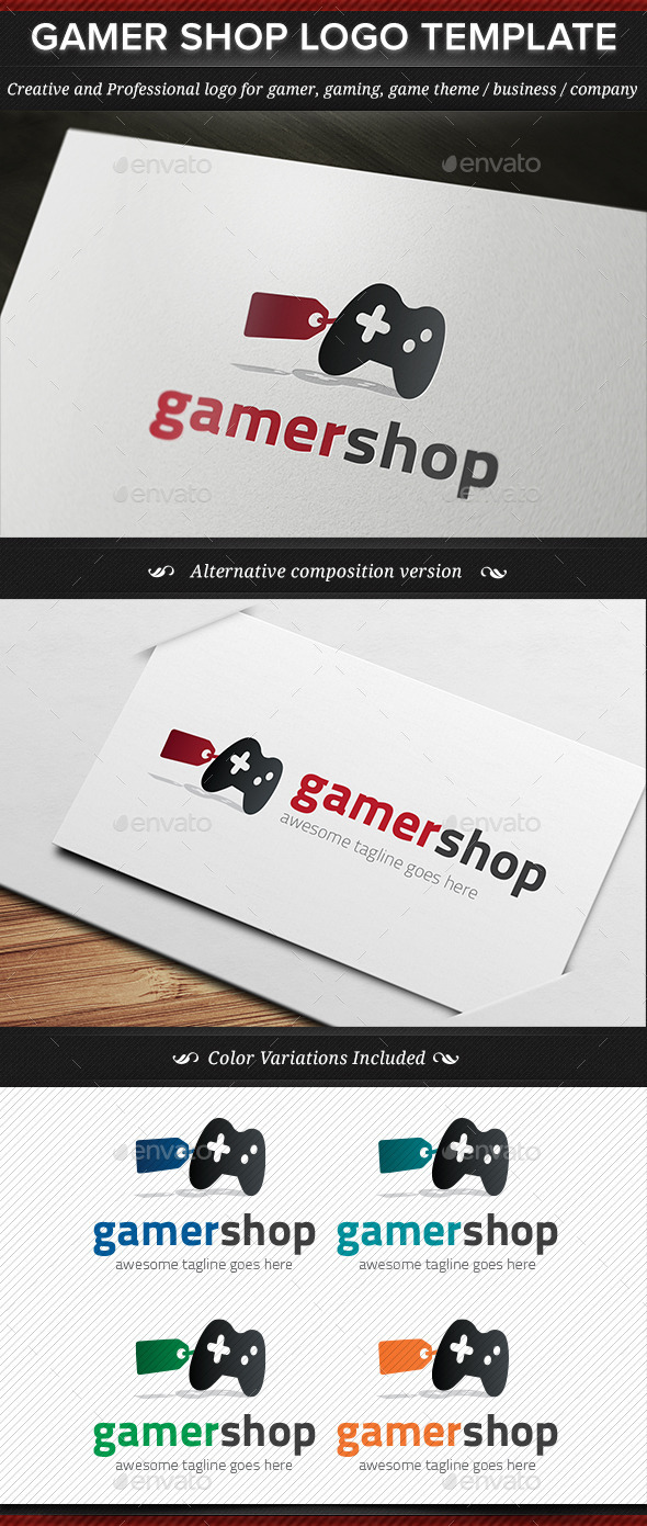 GraphicRiver Gamer Shop Game Gaming Logo Template 11441362