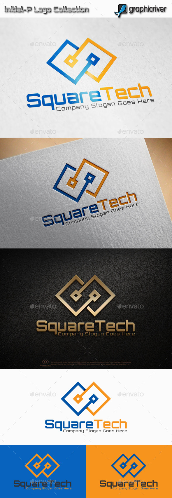 GraphicRiver Square Tech Logo 11441533